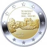 2 € юбилейная монета   2019 г. Мальта -Храмы Та' Хаджрат