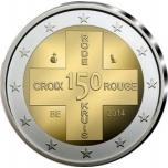 Belgia 2014.a. 2€ juubelimünt - 150 aasta möödumine Belgia Punase Risti asutamisest