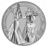 Allegoria 2019 - Britannia & Germania  5 $, 99,9% hõbemünt, 31,1 g