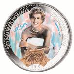 Walesin prinsessa Diana - Salomonsaaret 5 $ 2019.v. 99,9% hopearaha , 1 unssi