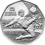 FIFA 2008. Austria 5 € 80 % hõbemünt, 8,0 g