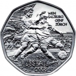 FIFA 2008. Austria 5 € 80% hõbemünt, 8 g