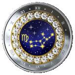 Horoskooppimerkit - Neitsyt - Kanada  5 $ 2019 v. 99,99% hopearaha, Swarovski® kristallia, 7,96 g