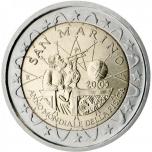San Marino 2005 2 eur juubelimünt - rahvusvaheline füüsika aasta 2005