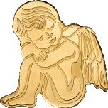Золотой ангел-хранитель -  Палау 1$ 2019 годa, 99,9% золотая монета 0,5 грамма