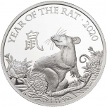 Roti aasta 2020 - The Royal Mint 2 GBP , 99,9% hõbemünt, 31,1 g