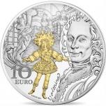 Europa « Эпоха барокко и рококо» Франция 10€ 2018.г. 92,5% Серебряная монета, 22 г