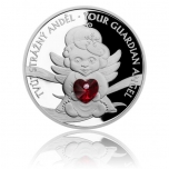 Aнгел-хранитель - Острова Ниуэ  2 $ 2019 г. 99,99% серебряная монета с Preciosa кристаллами  31.1. г.