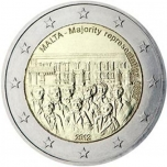2 € юбилейная монета 2012 г. Мальта - Совет большинства 1887 года