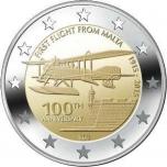 Malta 2015 a 2€ juubelimünt - esimene lend Maltalt