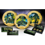 Франкенштейн, или Современный Прометей - Токелау 1 $ 2018.г. Набор из трёх позолоченных монет с цветной печатью