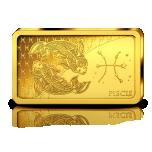 Horoskooppimerkit - Kalat - Salomonsaaret 10 $ 2020.v. 99,99% kultaraha 0,5 g