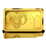 Zodiac Series 2020 Aries. Solomon Islands 10$ 2020 99,99% Gold Coin 0,5 g