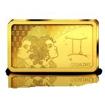Zodiac Series 2020 Gemini. Solomon Islands 10$ 2020 99,99% Gold Coin 0,5 g