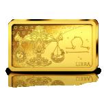 Знаки зодиака -Весы. Соломоновы Острова 10 $ 2020 г. 99,99% золотая монета. 0,5 гр
