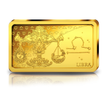 Zodiac Series 2020 Libra. Solomon Islands 10$ 2020 99,99% Gold Coin 0,5 g