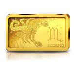 Знаки зодиака -Скорпион. Соломоновы Острова 10 $ 2020 г. 99,99% золотая монета. 0,5 гр