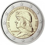 2 € юбилейная монета Монако 2012 г. - 500 лет признанию независимости Монако