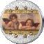 """Raffaello Sanzio -""""Sixtuse madonna"""" Inglid Cooki saarte 20$  2020.a värvitrükis ja osalise kullatisega 3-untsine 99,9% hõbemünt Swarovski® kristallidega"""