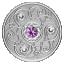 Õnnekivi - Veebruar- Kanada 5$ 2020.a. 99,99% hõbemünt Swarovski® kristallidega