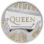 Muusika legendid - Queen  - Suurbritannia 2 £ 2020.a. 1-untsine 99.99%  hõbemünt osalise kullatisega