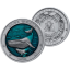 Veealune maailm -Sinivaal - Barbadose 5$ 2020.a. 3 untsine antiikvimistlusega ja 3D kõrgrelieeftehnikas, 99,9% hõbemünt