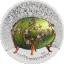 """Faberge muna """"Õunapuu õied""""  - Mongoolia 1 000 tugrikut 2020. a. 2-untsine osalise kullatise ja värvitrükiga 99,9% hõbemünt"""