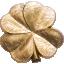 Kullatud õnn- Palau 5 $ 2020.a. kullatud 1 untsine 99,9 % hõbemünt