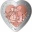 Rakkauspäivä -  Suukko- Fiji 1 $ 2020.v. sydämen muotoinen 99,9% hopea/kupariraha, 37,4 g