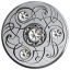 Birthstone April. Canada 5$ 2020 99,99% silver coin with Swarovski crystals, 7,96 g