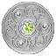 Syntymäpäivän onnenkivi. Elokuu. Kanada  5 $ 2020 v. 99,99% hopearaha, Swarovski® kristallia, 7,96 g