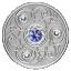Syntymäpäivän onnenkivi. Syyskuu. Kanada  5 $ 2020 v. 99,99% hopearaha, Swarovski® kristallia, 7,96 g