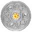 Счастливый камень на ноябрские дни рождения. Канада 5$ 2020 г. 99,99% серебряная монета с кристаллами Swarovski® 7, 96 г.
