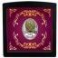 """""""Яйцо с решёткой и розами"""" (яйцо Фаберже). Острова Ниуэ,1 $, 2020 года , 99,9% серебряная монета с цветной печатью, вес-16,81 г."""