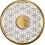 Elämän kukka- Barbados 10 $ 2020. v. hopea-kultaraha