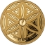 Symbols of Life - Flower of Life. Barbados 10$ 2020 gold coin /pedant