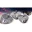 """«Вечная любовь"""" Соломоновы Острова 1 $. 99,9% серебряная монета - подвеска в виде сердца, с антик обработкой и хрусталём. 15 гp."""