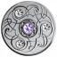 Syntymäpäivän onnenkivi. Joukukuu. Kanada  5 $ 2020 v. 99,99% hopearaha, Swarovski® kristallia, 7,96 g