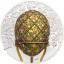 """""""Яйцо с решёткой и розами"""" (яйцо Фаберже) - Монголия 1000 тугрик 2021 г. 99,9% серебряная монета  c цветной печатью, 2 унций"""