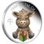 """""""Теленок"""" - Тувалу 1/2 $ 2021 года. 99,99% серебряная монета с цветной печатью, 15,553 гp."""