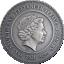 Аматэрасу - богиня-солнце. Острова Ниуэ. 5 $ 2021 г. 99,9% серебряная монета с позолотой, с антик обработкой и вставкой из янтаря 93,3 г.