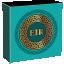 Эйр - Богиня здоровья. Гана. 10 седи 2021 г. 99,9% серебряная монета с антик обработкой и  цветной печатью 50 г.