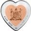 """"""" Celebrating Love. Golden Eagle"""" Fij 1i$ 2021 Bi-metal 99,9% silver coin. 21.4 g"""