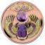 Skarabeus - õnnemardikas. Niue Saarte 1 $ 2021.a. värvitrükis 99.9% hõbemünt roosa kullatise ja ametüstiga, 17,5g