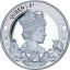 Kuninganna Elizabeth II 95. sünnipäev. Niue Saarte 1 $ 2021.a. 1-untsine 99,9% hõbemünt