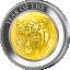 "Серебряная монета  ""Год Тигра"" Острова Кука 2021. Номинал 25$, серебро- 99,9%, вес 5 унций.  Монета со  вставкой из натурального перламутра."