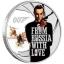 """""""Джеймс Бонд. Из России с любовью """" - Тувалу 1/2 $ 2021 года. 99,99% серебряная монета с цветной печатью, 15,553 гp."""