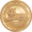 Lunar Year of the Tiger 2022 Mongolia 1000 Togrog 2021 99,99% gold coin 0,5 g