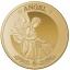 Ангел. 50 £ Остров Святой Елены 2021 г. 99,99% золотая монета, 1 унция