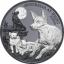Austraalia ööelu. Dingo - Niue Saarte 1$ 2021.a. 1 untsine 99,9%  hõbemünt (Black proof)